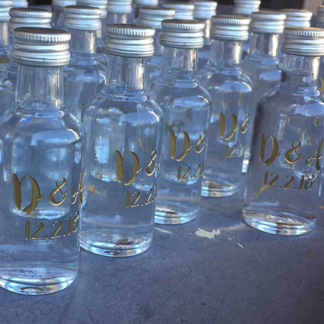 Personalized Etched Vodka Wedding Favors