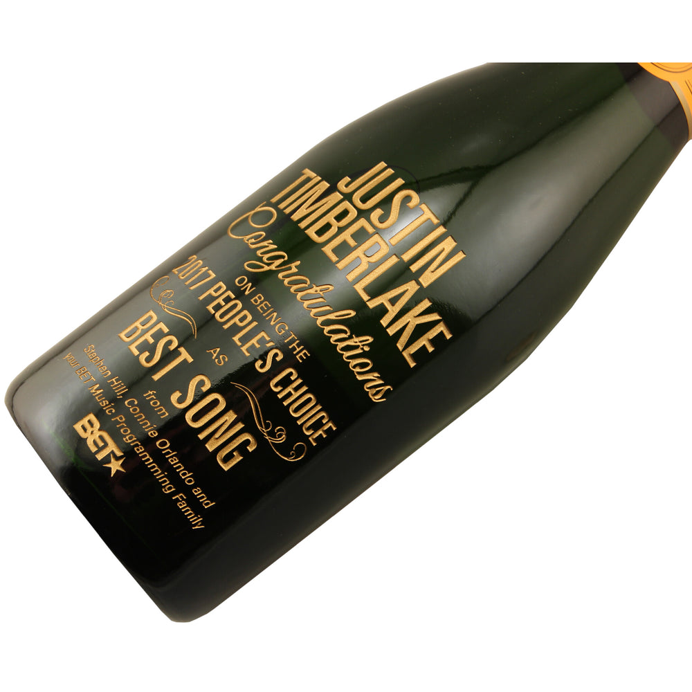 Corporate Etched Champagne with Gold Paint