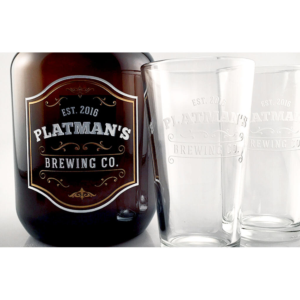 personalized growlers for craft beer etchingx