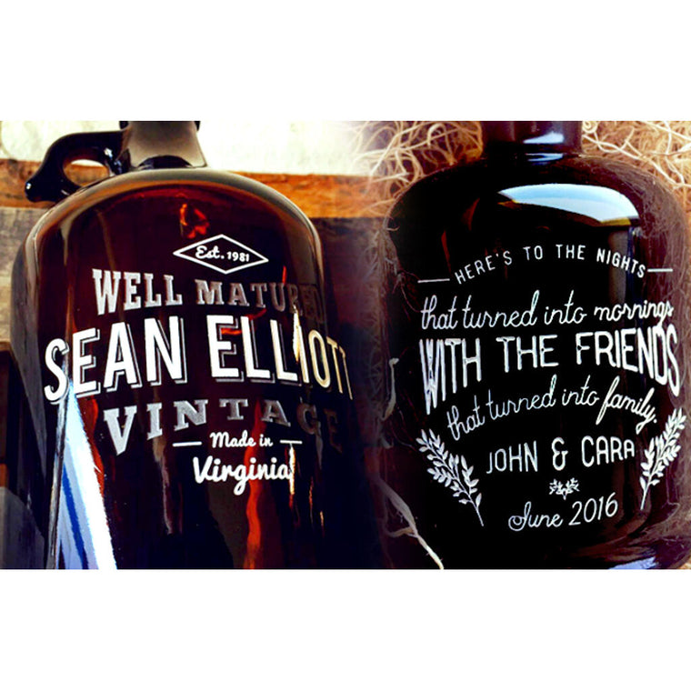 Custom growlers personalized beer gifts by Etching Expressions