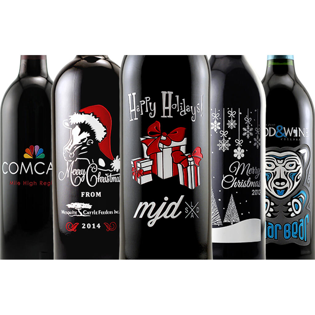 Wine Christmas Packaging.Christmas Wine Gifts Personalized Etched Labeled Gift