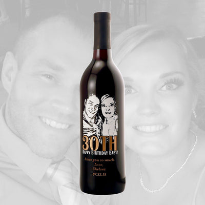 Red Wine - Upload Your Own Birthday Photo!