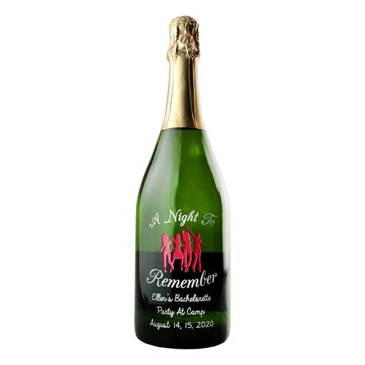 A Night To Remember custom etched champagne bottle by Etching Expressions