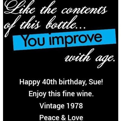 Red Wine - Birthday Improve with Age