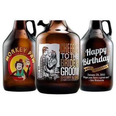 Etched Photo Custom Beer Growler gift for beer lovers by Etching Expressions