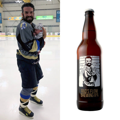 Your photo custom etched beer bottle birthday gift by Etching Expressions
