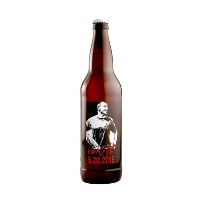 Custom Photo etched on a beer bottle, the best gift for him by Etching Expressions