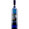 custom etched blue wine bottle with personalized photo by Etching Expressions