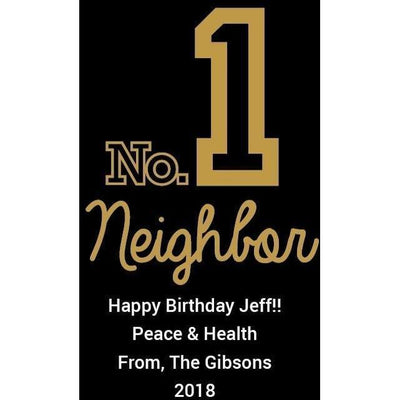 Personalized Red Wine Bottle Gift- Number 1 Neighbor