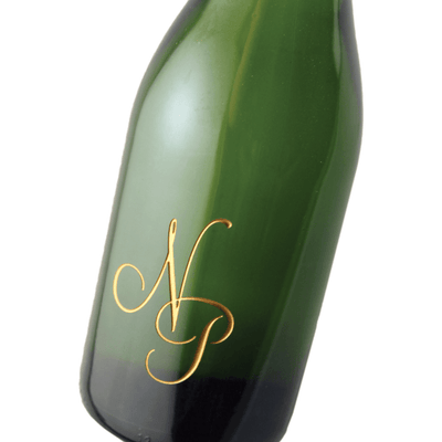 monogram engraved champagne bottle by Etching Expressions