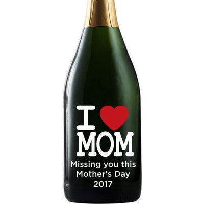 Personalized Champagne - I heart Mom