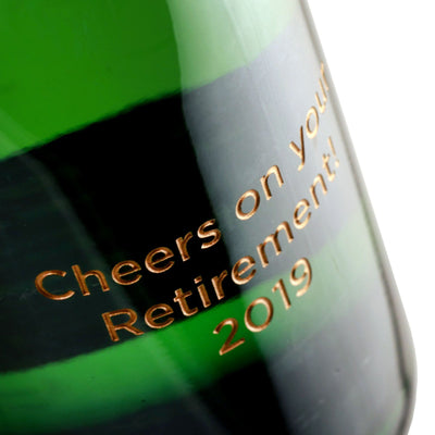 Champagne - Custom Retirement Text