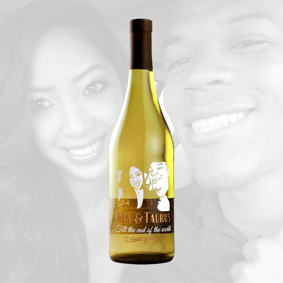 White Wine - Upload Your Own Wedding Photo!