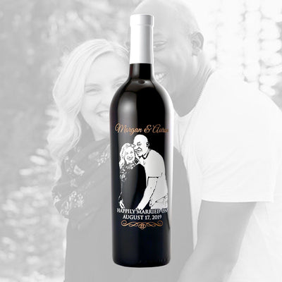 Red Wine - Upload Your Own Wedding Photo!