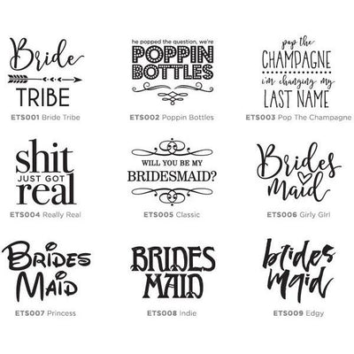Stemless Wine Glass - Bridesmaid Designs