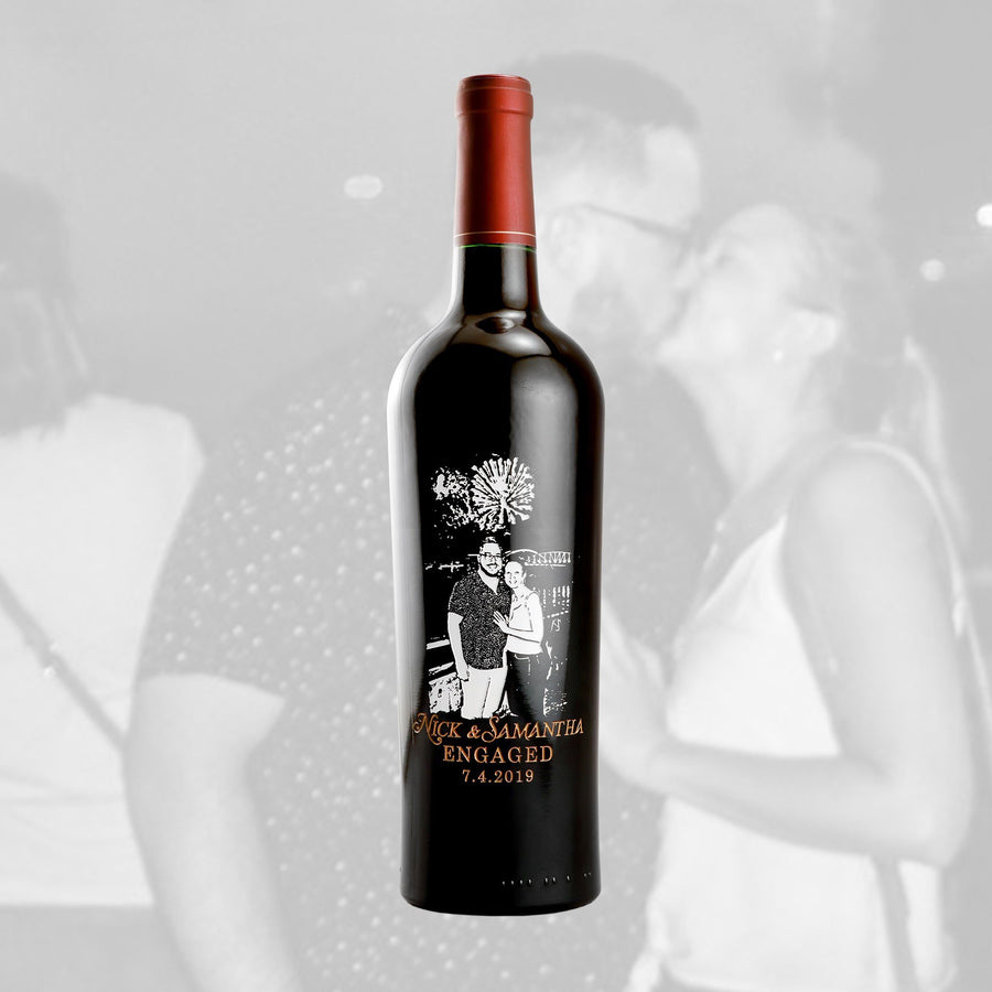 Red Wine - Upload Your Own Engagement Photo!