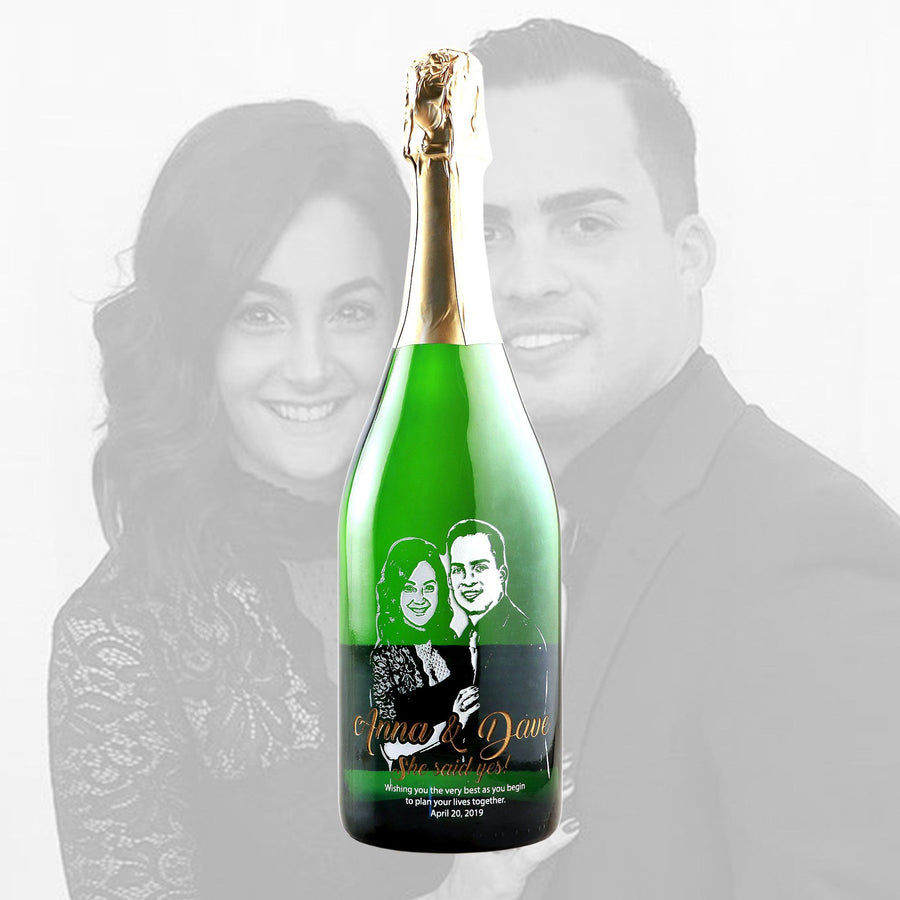 Champagne - Upload Your Own Engagement Photo!
