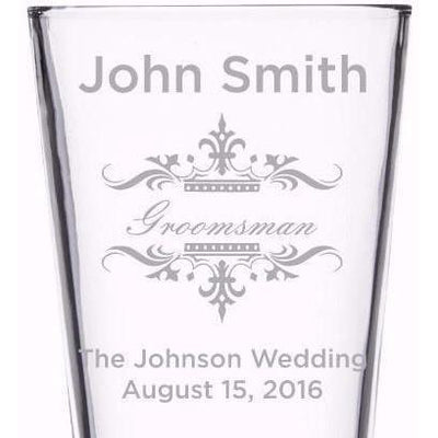 Beer Pint Glass - Wedding Party