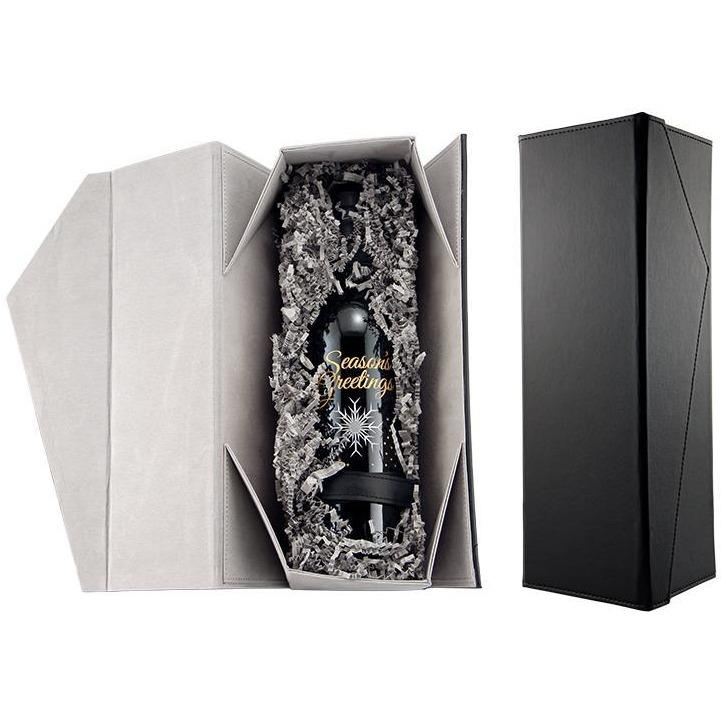 black faux leather box packaging for etching expressions