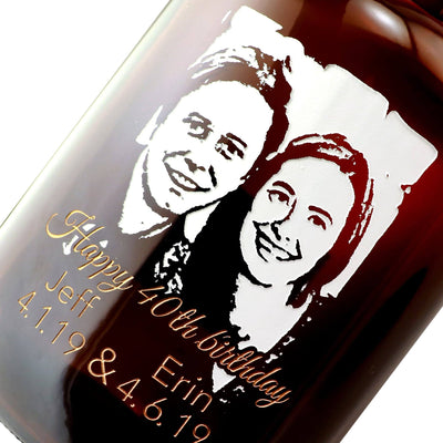 Personalized Beer Growler Photo Upload custom birthday gift by Etching Expressions