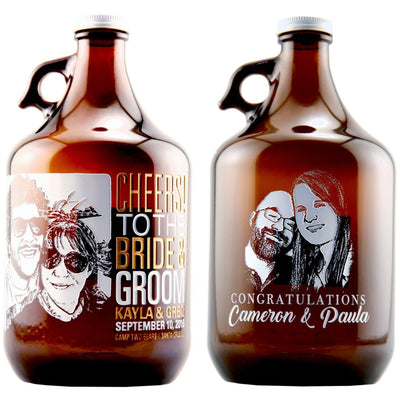 Personalized Beer Growler - Upload your Photo for an any occasion gift