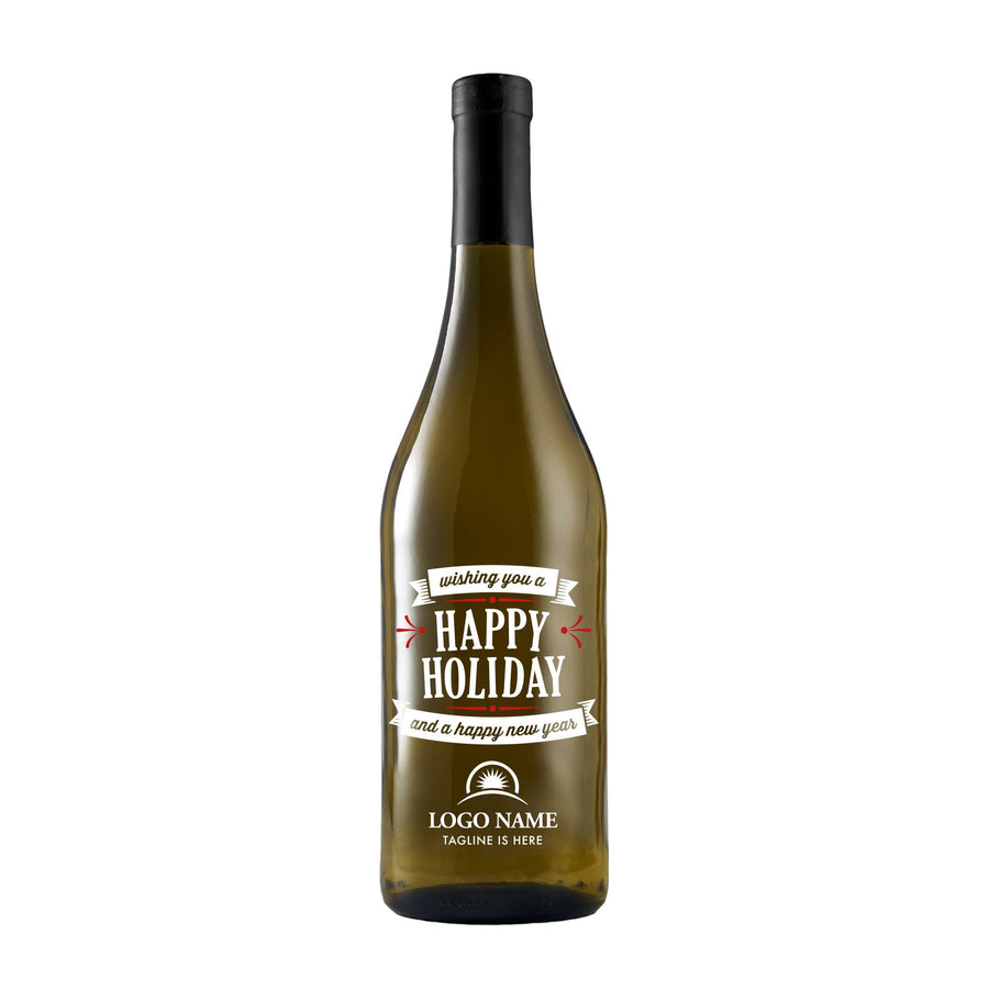 White Wine - Wishing You a Happy Holiday with Logo