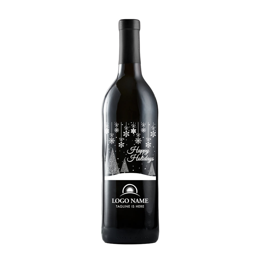 Red Wine - Holiday Scene with Logo