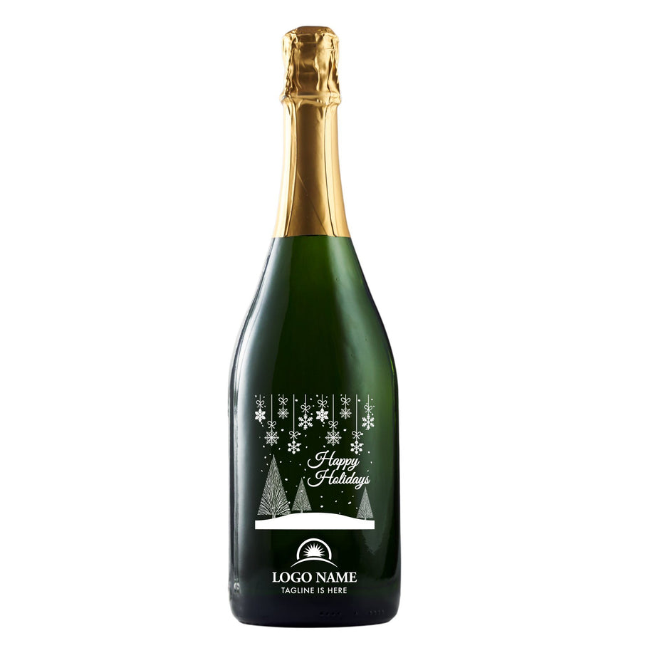 Champagne - Holiday Scene with Logo