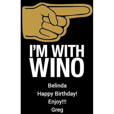 I'm With Wino personalized etched blue wine design by Etching Expressions