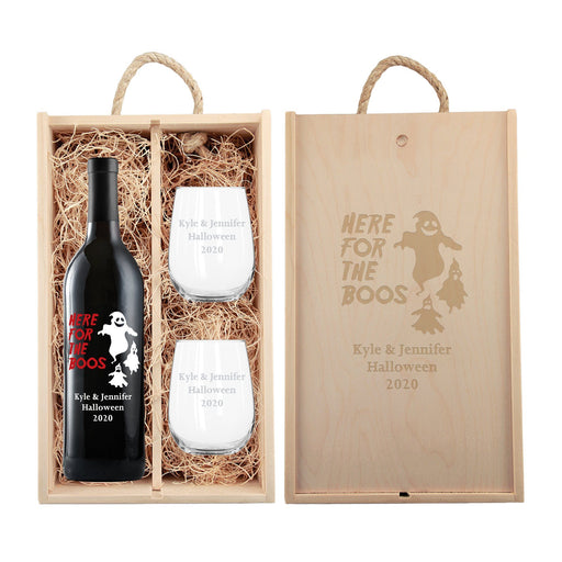 Red Wine - Here for the Boos Gift Set