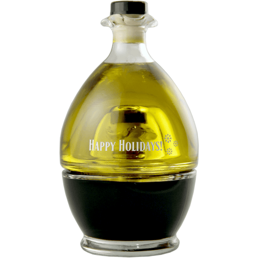 Personalized olive oil and vinegar set with custom text