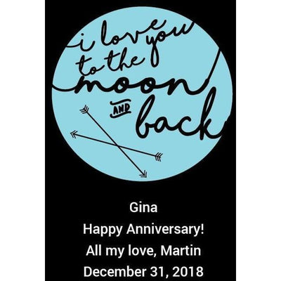 Personalized Etched Red Wine Gift - To the Moon and Back