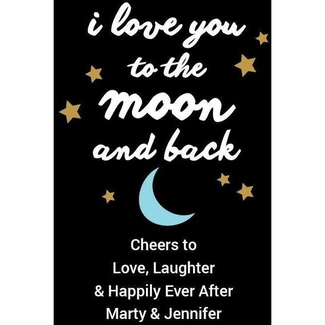I Love You to the Moon and Back with stars custom engraved beer growler by Etching Expressions