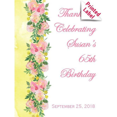 Personalized Champagne Bottle Gift  - Floral Roses Label