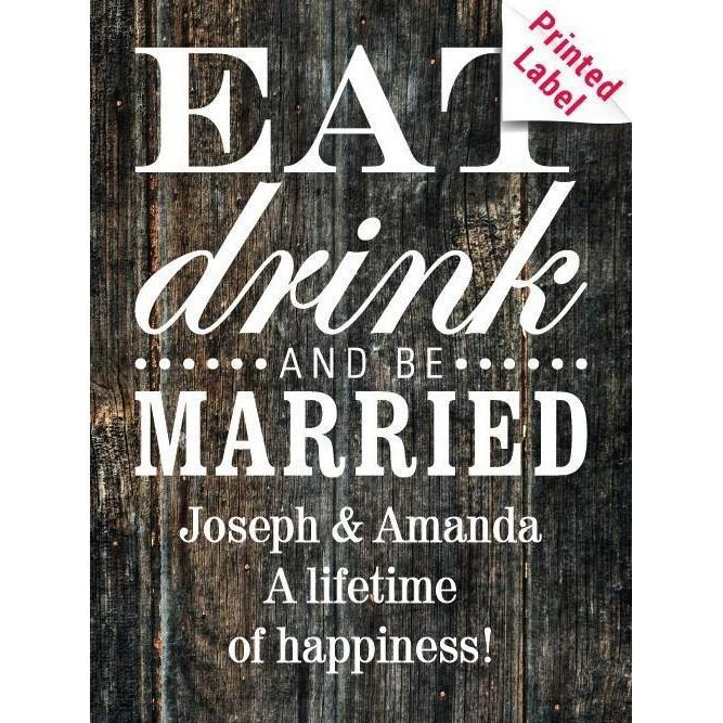 Eat Drink & Be Married Label