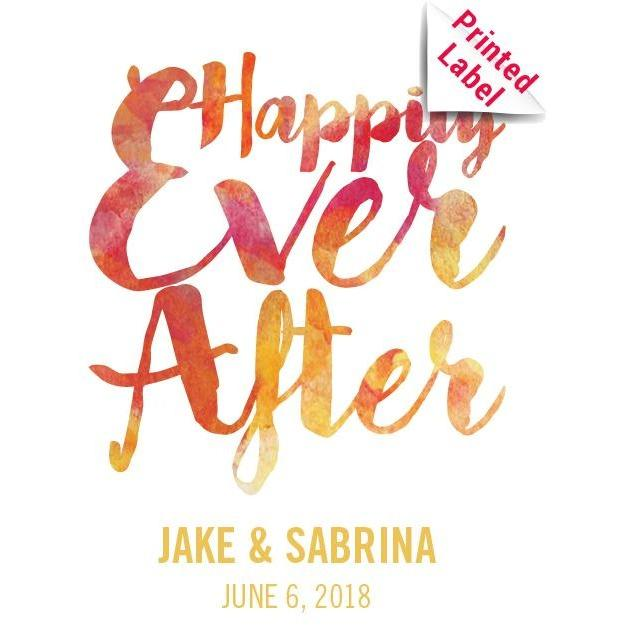 Champagne - Happily Ever After Label