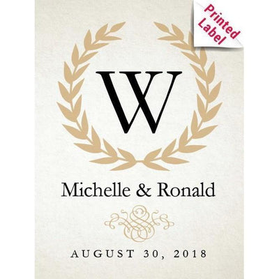 Personalized Red Wine Bottle Gifts - Monogram Label