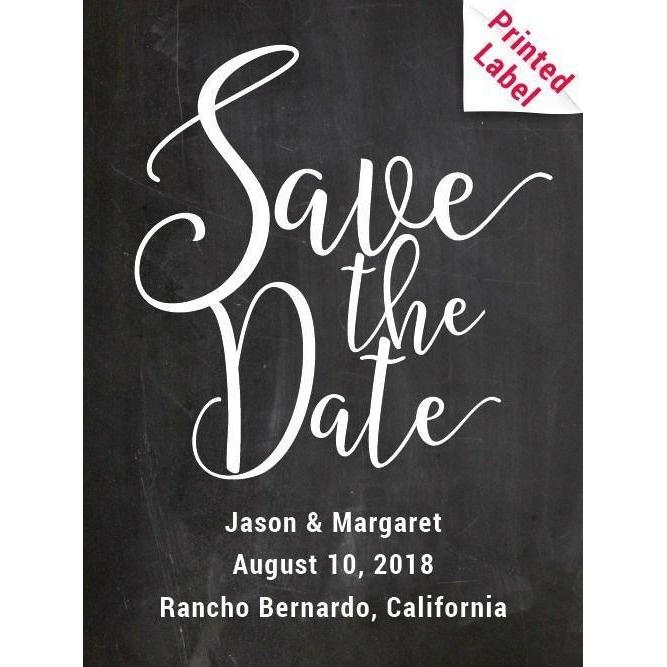 Red Wine - Save the Date Label