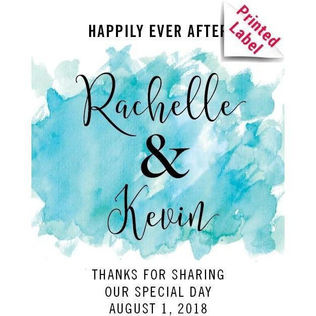 Personalized White Wine - Happily Ever After Couple Label