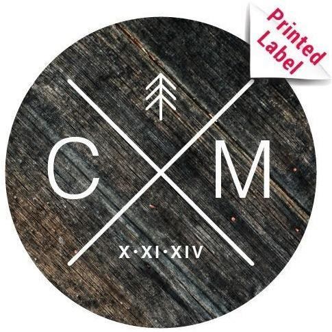 Beer - Circle Cross Initials Label