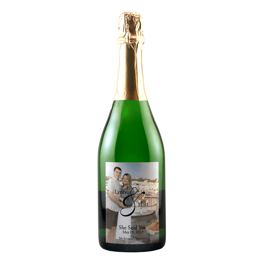 Champagne - Custom Label with your Engagement Photo!