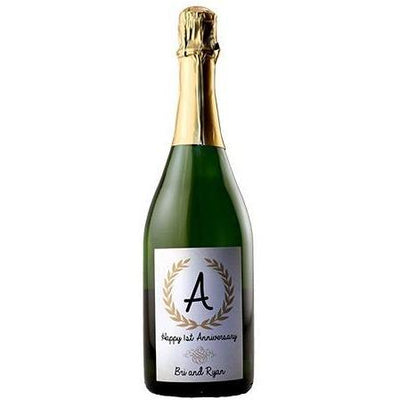 Personalized Champagne Bottle Labelt  - Monagram Label
