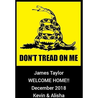 Personalized Champagne - Don't Tread on Me