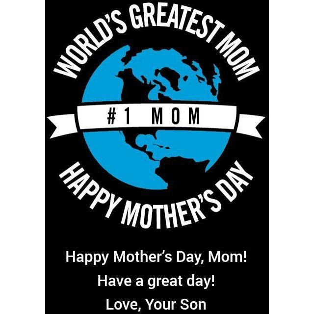 World's Greatest Mom Happy Mother's Day gift personalized etched beer growler by Etching Expressions