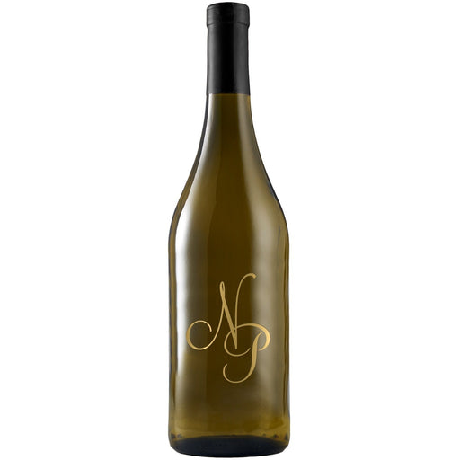 monogram etched white wine bottle by Etching Expressions