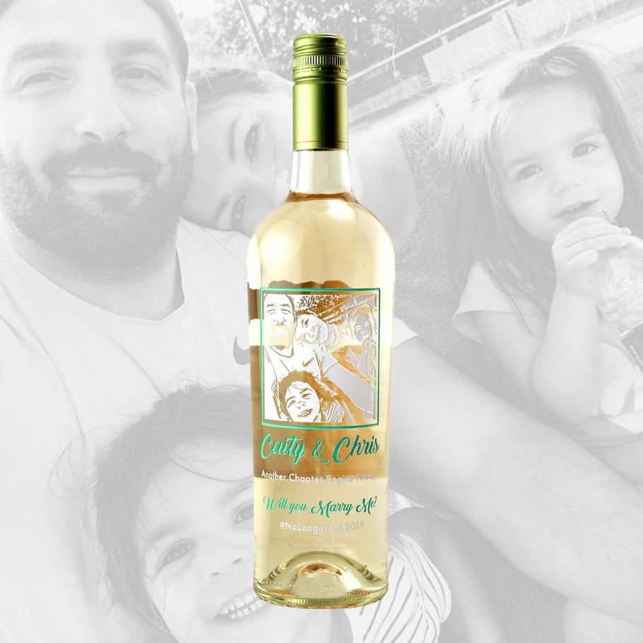 White Wine - Upload Your Own Photo!