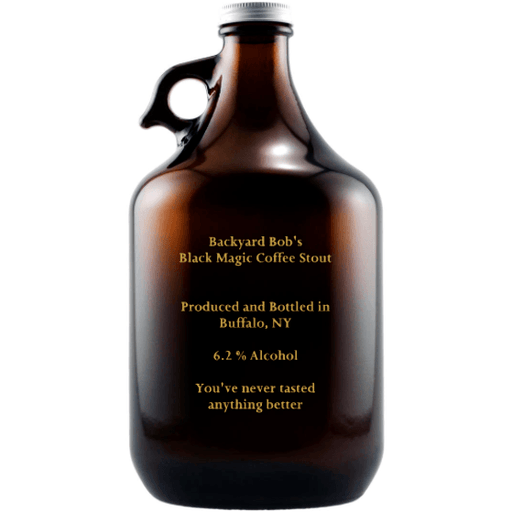 Custom Text Personalized Beer Growler Gift by Etching Expressions