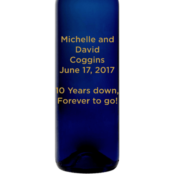 Personalized Blue Bottle - Custom Text