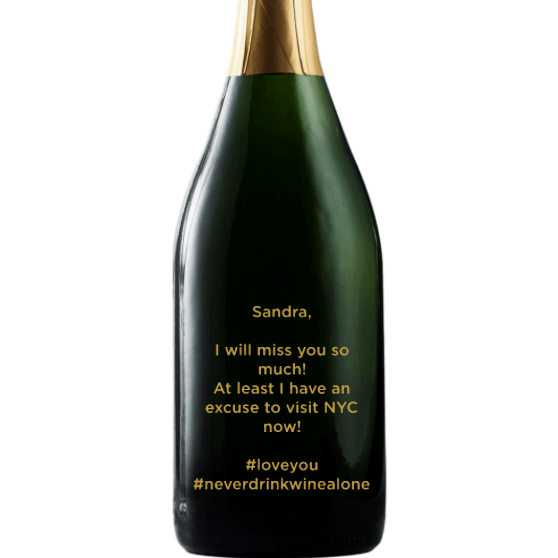 Personalized Champagne Gift - Customize Your Text for Any Occassion