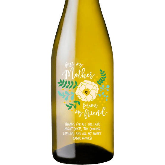 Personalized White Wine - Friend Mother